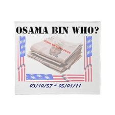 osama bin laden Throw Blanket