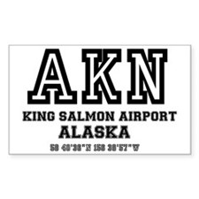 AIRPORT CODES - AKN - KING SAL Decal