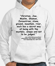 Rumi Mystery Quote Hoodie