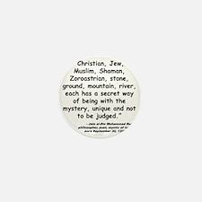 Rumi Mystery Quote Mini Button