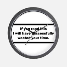 Wasting your time Wall Clock