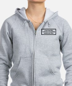 Wasting your time Zip Hoodie