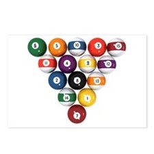 Pool-Balls-0090000.png Postcards (Package of 8)