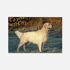 golden_BIRTHDAY-CARD Rectangle Magnet