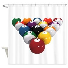 Pool-Balls-0080000.png Shower Curtain