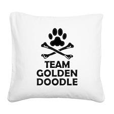 Team Goldendoodle Square Canvas Pillow