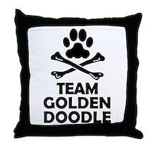 Team Goldendoodle Throw Pillow
