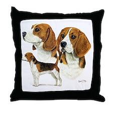 Beagle Multi Throw Pillow