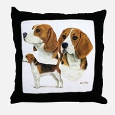 Beagle Multi Throw Pillow