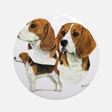 Beagle Multi Round Ornament