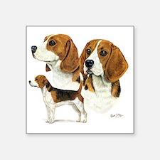 """Beagle Multi Square Sticker 3"""" x 3"""""""