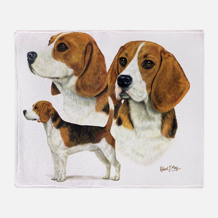 Beagle Multi Throw Blanket