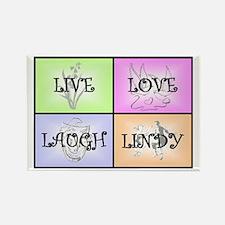 Live Love Laugh Lindy Rectangle Magnet