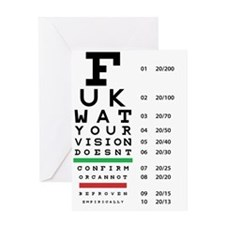 Atheist-Snellen-Eye-Chart Greeting Card