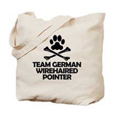 Team German Wirehaired Pointer Tote Bag