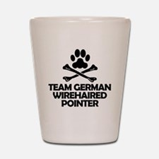 Team German Wirehaired Pointer Shot Glass