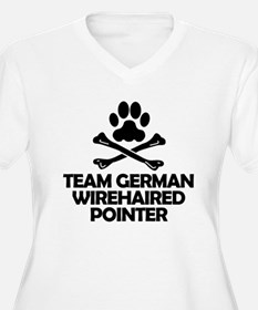 Team German Wirehaired Pointer Plus Size T-Shirt