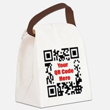 Personalized QR Code Canvas Lunch Bag