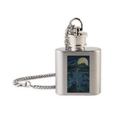 Zombie Peeps Flask Necklace