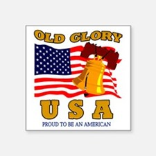 "OLD GLORY Square Sticker 3"" x 3"""