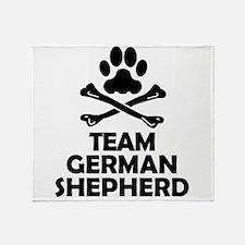 Team German Shepherd Throw Blanket
