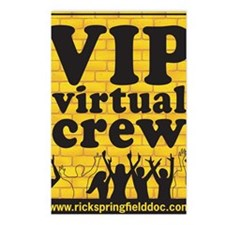 VIPCREWLOGOforCafe Postcards (Package of 8)