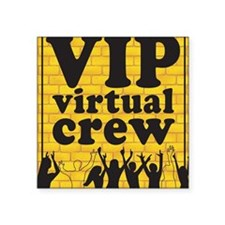 "VIPCREWLOGOforCafe Square Sticker 3"" x 3"""