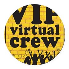 VIPCREWLOGOforCafe Round Car Magnet