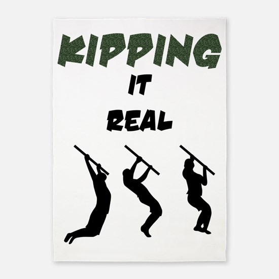 Kipping it Real 5'x7'Area Rug