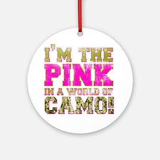 pink Round Ornament