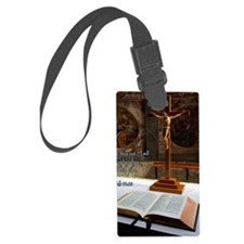 Isaiah 41-10 Bible and Cross Luggage Tag