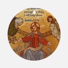 Isaiah 41-10 Jesus Mosaic Round Ornament