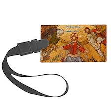 Isaiah 41-10 Jesus Mosaic Luggage Tag