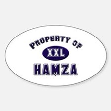 Property of hamza Oval Decal