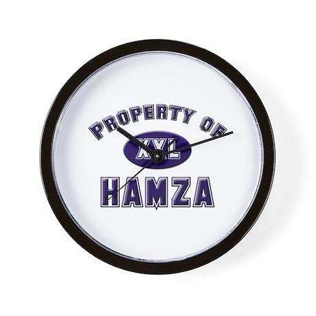 Property of hamza Wall Clock