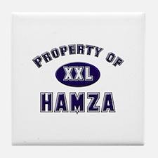 Property of hamza Tile Coaster
