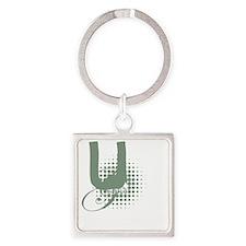 Logo Dark Square Keychain
