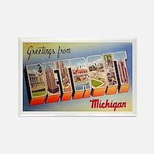 Detroit Michigan Greetings Rectangle Magnet