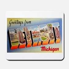 Detroit Michigan Greetings Mousepad
