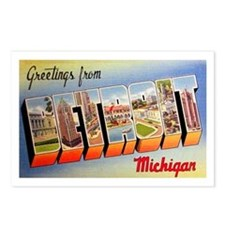 Detroit Michigan Greetings Postcards (Package of 8