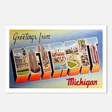 Detroit Michigan Greetings Postcards (Package of 8
