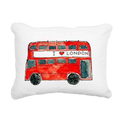 bus big Rectangular Canvas Pillow