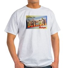 Detroit Michigan Greetings Ash Grey T-Shirt