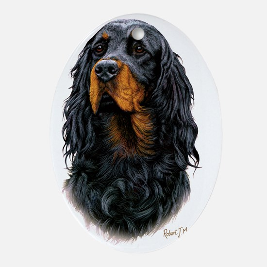 Gordon Setter 3 copy Oval Ornament