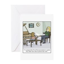 Cute Technology cartoon Greeting Card