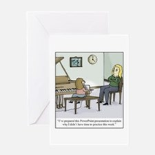 Cute Piano students Greeting Card