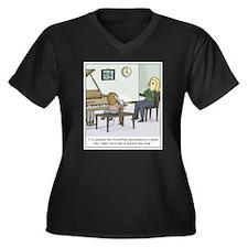 Cute Piano students Women's Plus Size V-Neck Dark T-Shirt