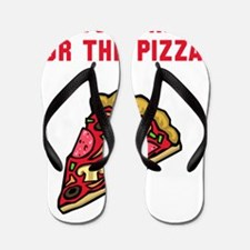 Here For The Pizza Red Flip Flops