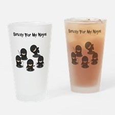 Strictly Ninjas Black Drinking Glass