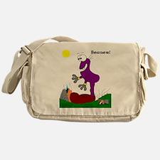 Beaner! In Purrpl Messenger Bag